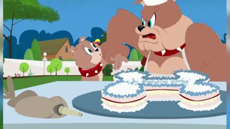 猫和老鼠:尽管客人还没来,小寿星可以提前吃点生日蛋糕也没事!