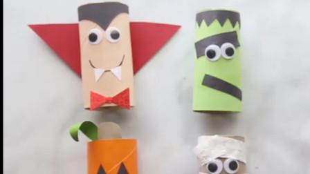 男孩们都喜欢的儿童手工视频教程,教你用纸芯制作玩偶