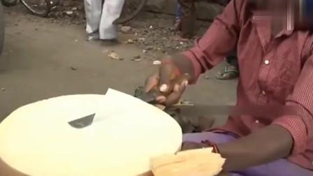 这位印度街头厨师的刀法, 估计新东方都教不出来
