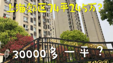 上海郊区74平米二手房245万,坐地铁去市区只要20分钟,太方便了