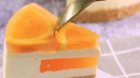 非常治愈的香橙芝士慕斯蛋糕  #美食