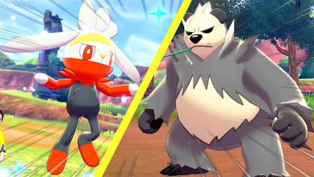 精灵宝可梦盾29:一口气打败流氓熊猫,抓到一只可爱的三蜜蜂!