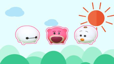 奇趣蛋食玩 迪士尼叠叠乐奇趣蛋拆出草莓熊大白雪宝