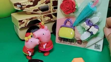 向来调皮的乔治瞬间变小暖男,给姐姐买了好看的橡皮擦,佩奇心里乐开花