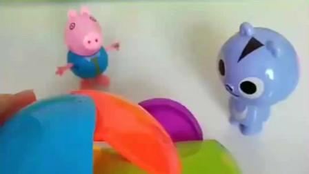 乔治把玩具给小伙伴的时候还好好的,还回来的时候就坏了,谁搞的鬼?