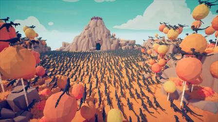 战争模拟器:1000只恐龙能否攻下有弓箭手坚守的山峰?