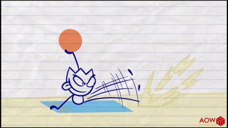 阿呆只是想晒个太阳,为啥那么多人来打扰他!铅笔画小人游戏
