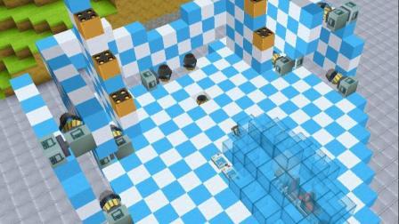 迷你世界:变形战斗机,能360度扫射攻击,第二形态飞行速度超快(1)