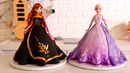 《冰雪奇缘》里最可爱的两位公主,牛人用翻糖蛋糕就能做成!好吃好玩
