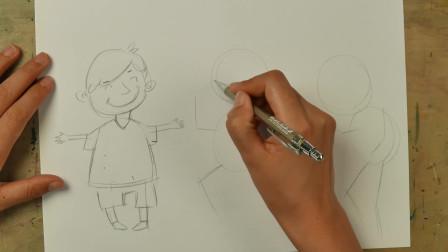 儿童插画课分享:这样画人物很简单