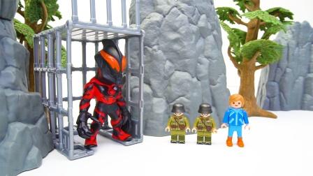 贝利亚被奥特曼关在笼子里 怪兽成功救出贝利亚
