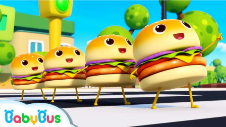 各种口味搭配的汉堡包你喜欢哪个?宝宝巴士游戏