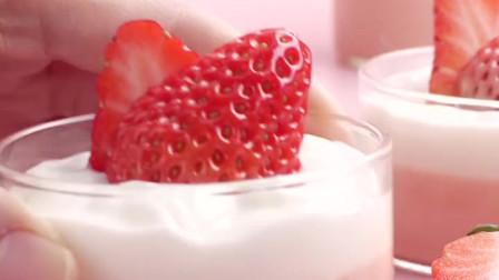 粉粉的草莓🍓布丁,不用烤箱不用蒸