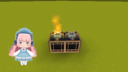 """迷你世界: """"现代煤气灶""""制作教程!麻麻炒菜的专用煤气灶!"""