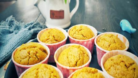 自已做的南瓜纸杯蛋糕,成本低比买的还好吃。