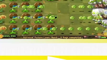 植物大战僵尸:豌豆机枪与火炬树桩!
