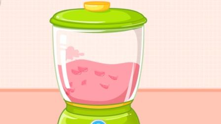 宝宝巴士趣味游戏 小朋友自己动手给小鸭子制作美味鱼、草莓汁