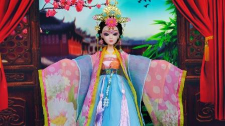 芭比娃娃玩具故事 芭比古代四大美女之一杨贵妃娃娃装扮玩具