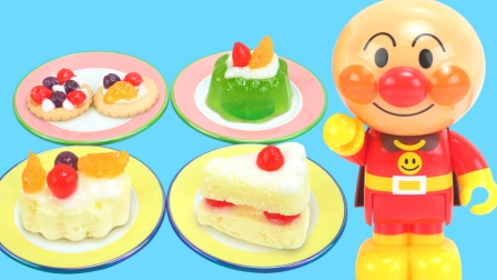 面包超人厨房DIY草莓布丁果冻食玩.
