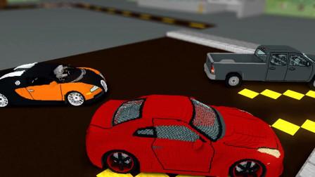 我的世界动画-怪物学院-开车挑战-Craftronix