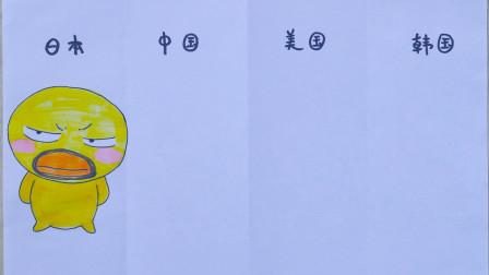 日本最可爱小鸡有《胡子小鸡》,那中国美国韩国呢?趣味漫画展示