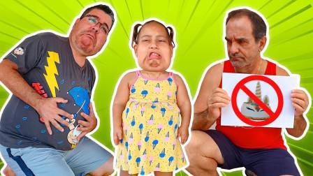 超奇怪!萌宝小萝莉和爸爸的肚子为何变大?爷爷为何不让吃蛋糕?儿童亲子益智趣味游戏玩具故事