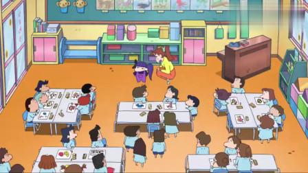 蜡笔小新:班上来了新同学,长了一头紫发,结果风间看的脸红了