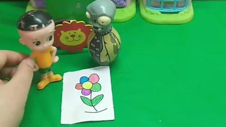 僵尸套路了葫芦娃,让葫芦娃保护了他,结果他要把葫芦娃给抓走