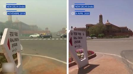 印度因疫情封锁全国后,首都空气污染消失了