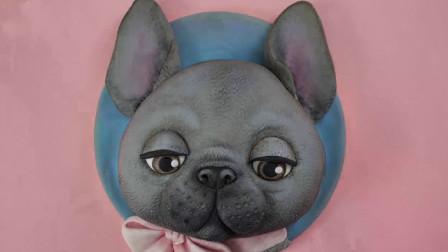 教你自制可爱的狗狗翻糖蛋糕,做法简单零失败,你也能学会哦!