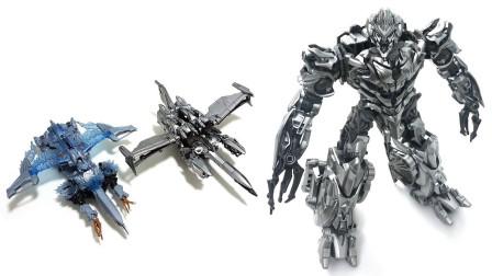 两款变形金刚2007电影 SS系列SS54和冰冻版威震天 机器人变形玩具