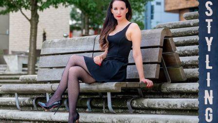 【PureGLAM】黑色网袜迷你裙-Vanessa Pur的汉堡 街拍