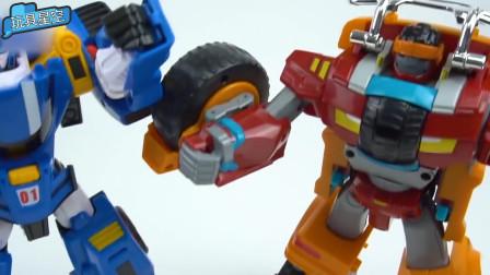 变形金刚汽车变形机器人对战玩具