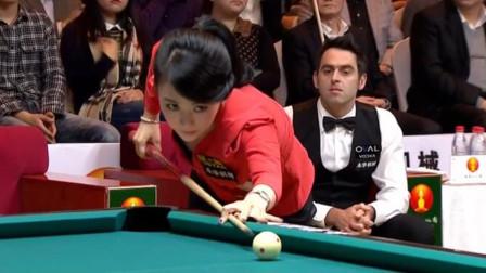 名场面:潘晓婷打台球看呆奥沙利文,火箭嘴角微微抽动