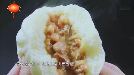 清泉阁包子铺,肉馅多而且是用老面发酵,每天能卖四万多个