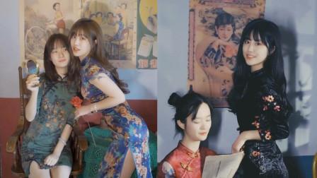 盛世美颜啊!宛如画中人的旗袍母女花,瞬间有古典气质了!
