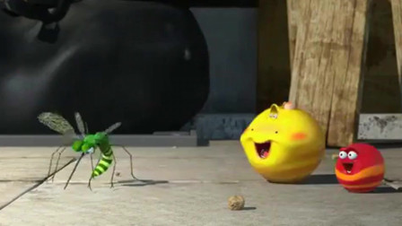 爆笑虫子:二虫吃下跳跳球,勇斗蚊子,结局很意外