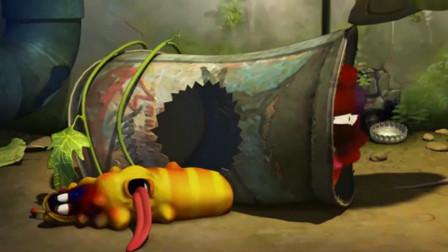 爆笑虫子:蜜蜂战斗力爆表!把小红扎成了巨人!体型大了不止一倍
