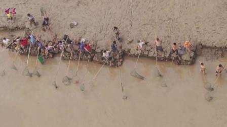 河南三门峡水库捞黄河捕鱼2