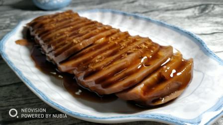 桂花糖糯米藕家常做法,藕断丝连,口感软糯香甜,浸泡一夜更入味