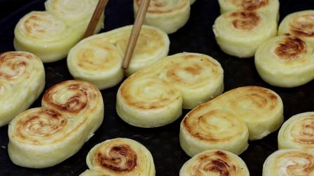 千层酥脆小饼干的做法,不用发面,不要烤箱,家里有面粉就可以做