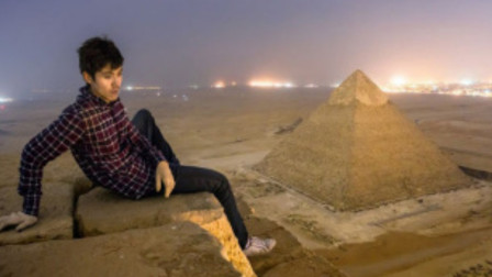 金字塔为啥要禁止攀爬?小伙偷偷爬上去后,差点有意外发生!