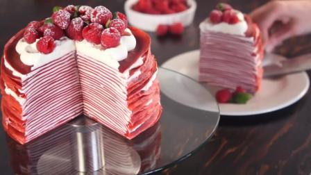 红丝绒绉蛋糕,看起来就很有食欲