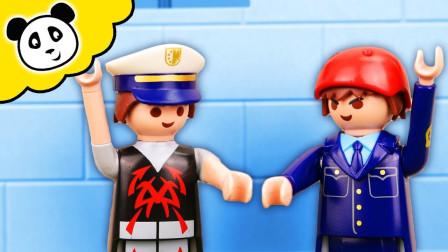 玩具游戏儿童故事:越看越精彩,神秘小偷VS卧底警察,谁能获胜?