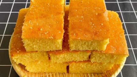 想吃蛋糕不用买了,教你做酸奶小米蛋糕,无油少糖,松软又香甜 【三丰美食】