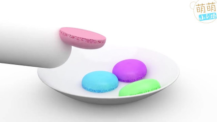 手工制作豆豆饼干小面包 学习认识颜色 幼儿童英语早教启蒙动画
