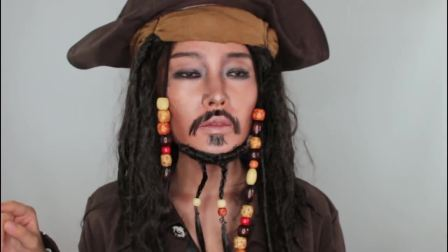 杰克船长仿妆,封面你能看出来这是位小姐姐吗?这技术厉害了