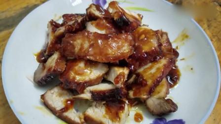 教你在家用电饭锅做蜜汁叉烧肉,做法简单又美味,上桌全家抢着吃