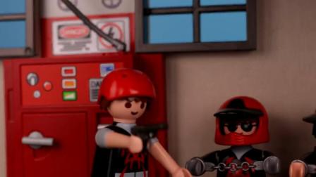 玩具游戏儿童故事:越看越精彩,卧底警察小正太要如何抓住小偷?