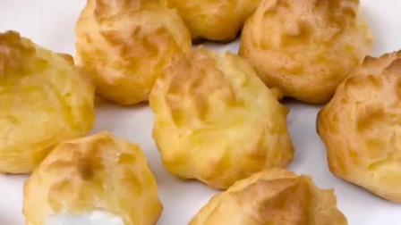 【烘焙甜品教程】简单易成功的奶油小泡芙做法~